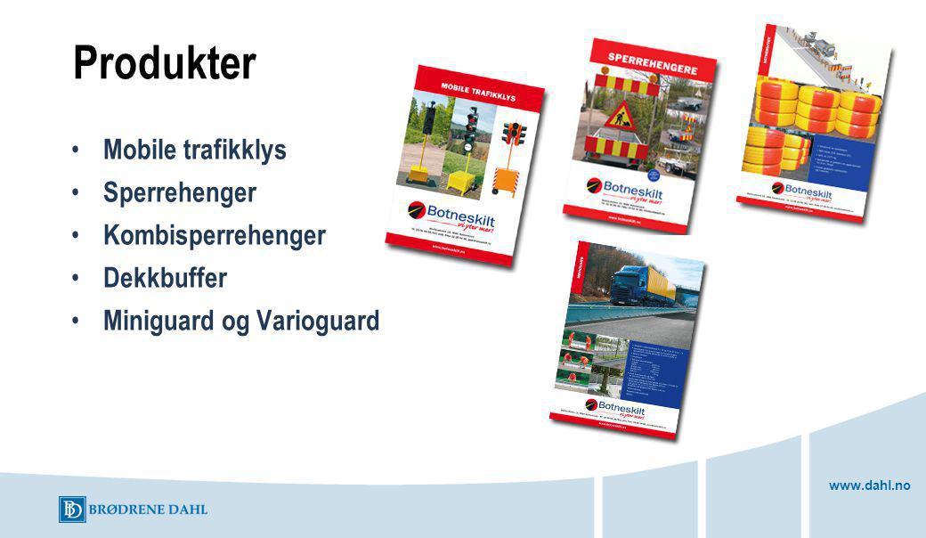 Produkter Mobile trafikklys Sperrehenger Kombisperrehenger Dekkbuffer
