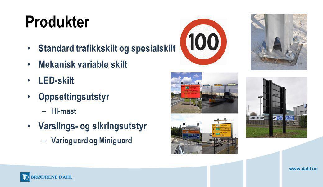 Produkter Standard trafikkskilt og spesialskilt