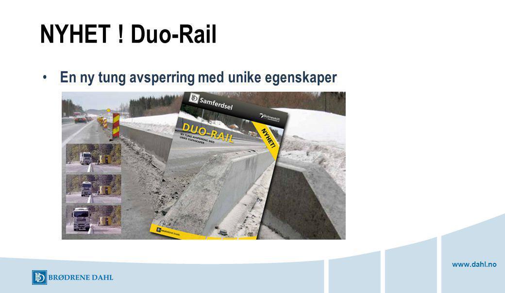 NYHET ! Duo-Rail En ny tung avsperring med unike egenskaper