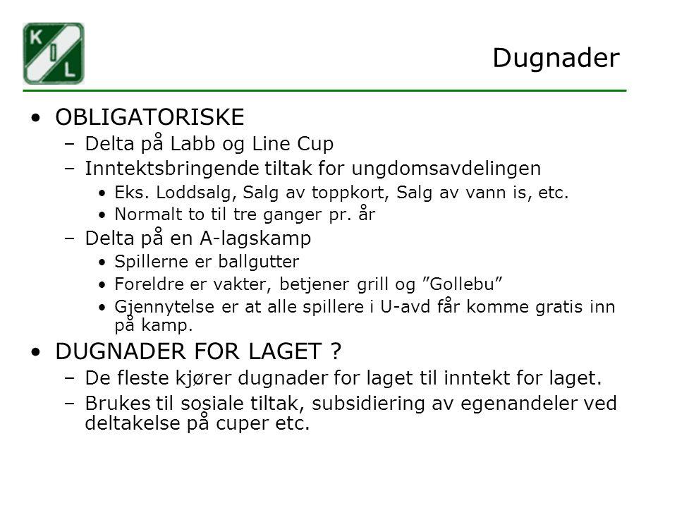 Dugnader OBLIGATORISKE DUGNADER FOR LAGET Delta på Labb og Line Cup