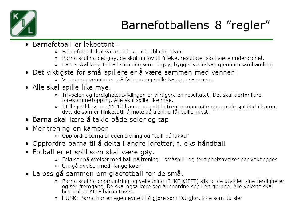 Barnefotballens 8 regler