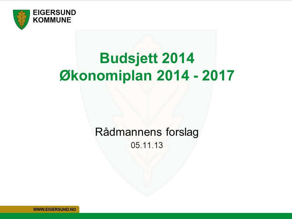 Budsjett 2014 Økonomiplan 2014 - 2017