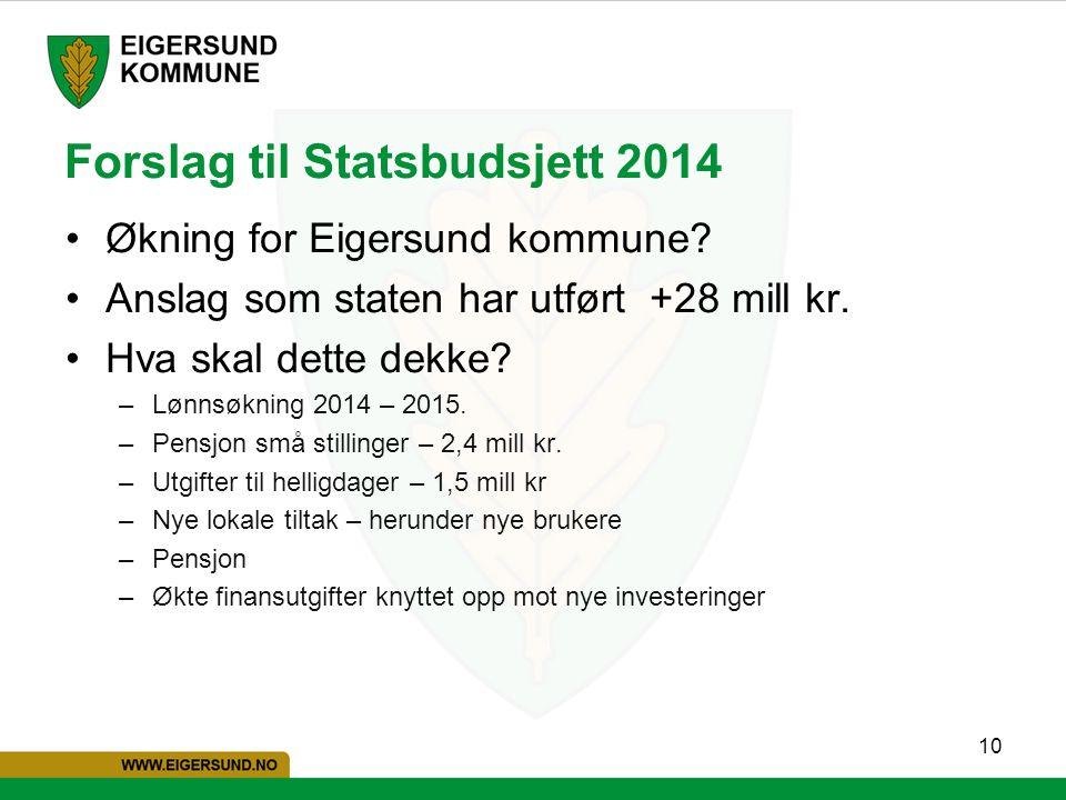 Forslag til Statsbudsjett 2014