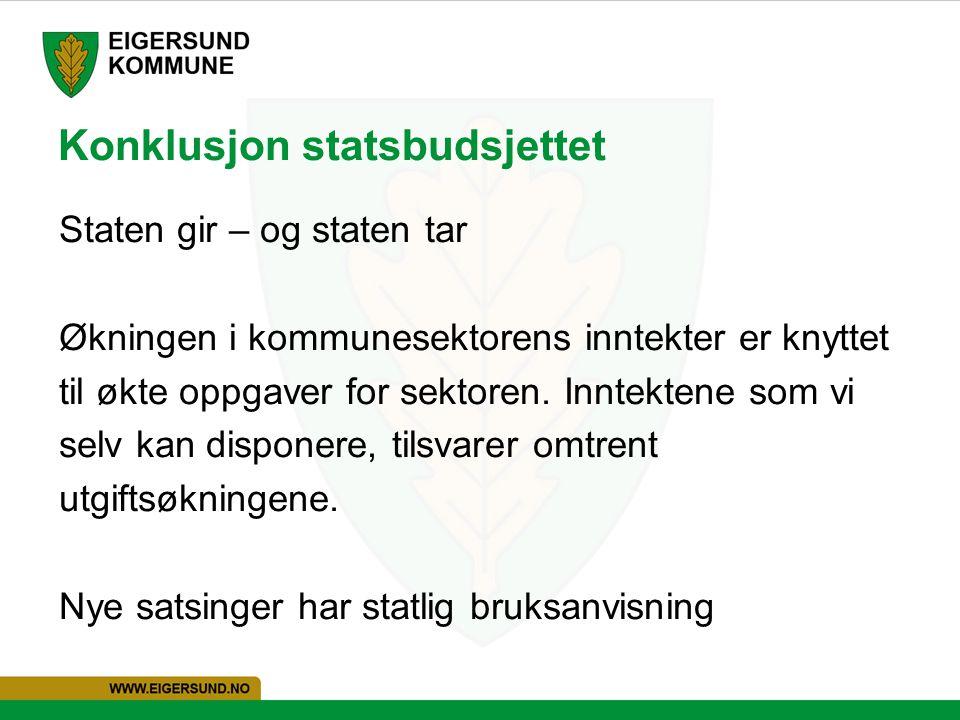 Konklusjon statsbudsjettet