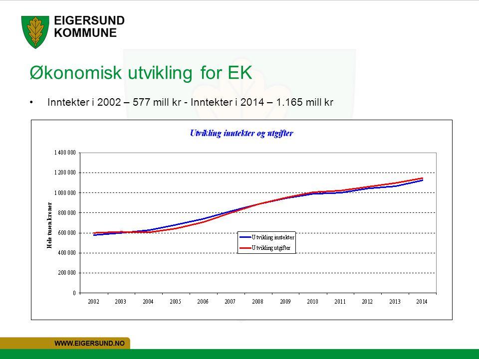 Økonomisk utvikling for EK
