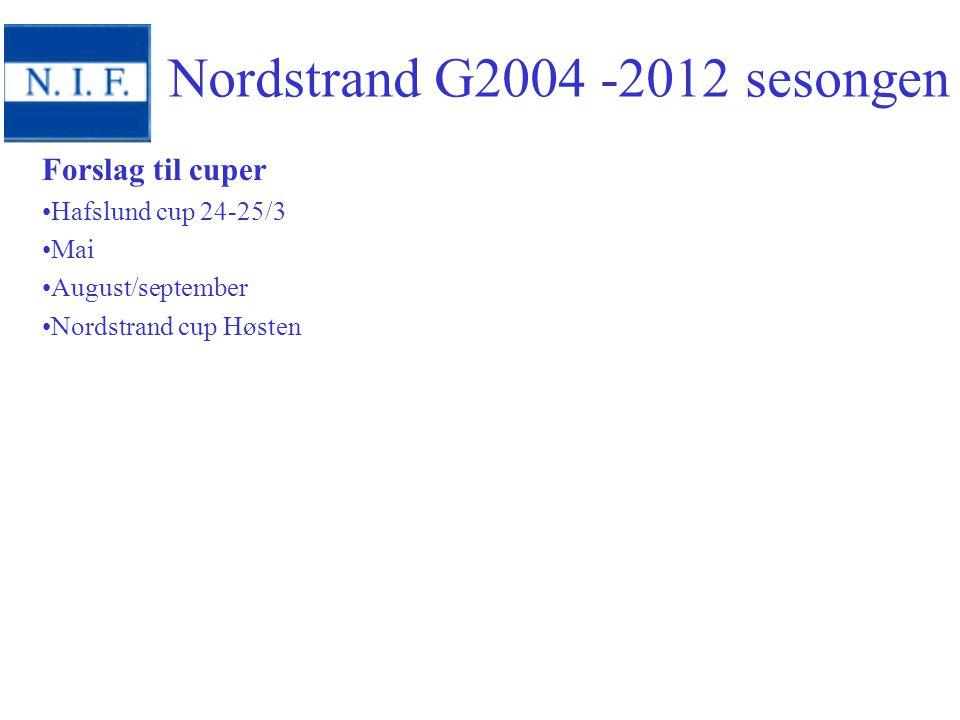 Nordstrand G2004 -2012 sesongen