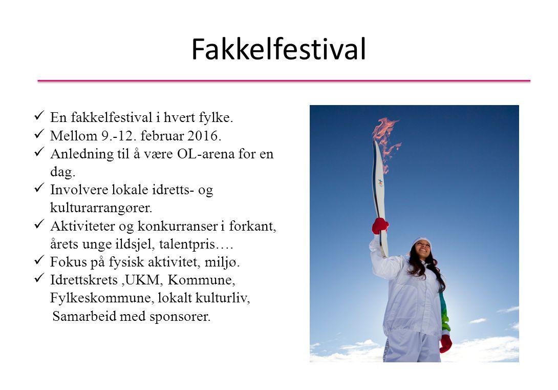 Fakkelfestival En fakkelfestival i hvert fylke.