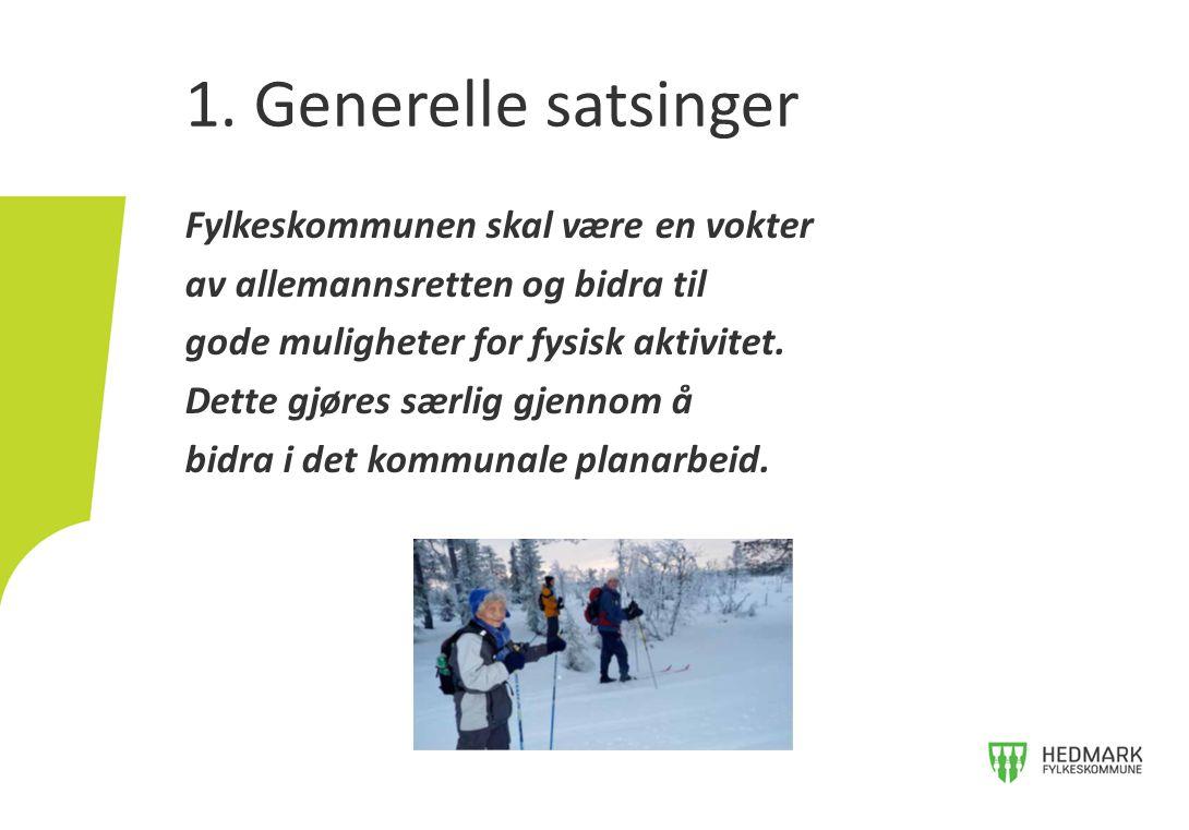 1. Generelle satsinger