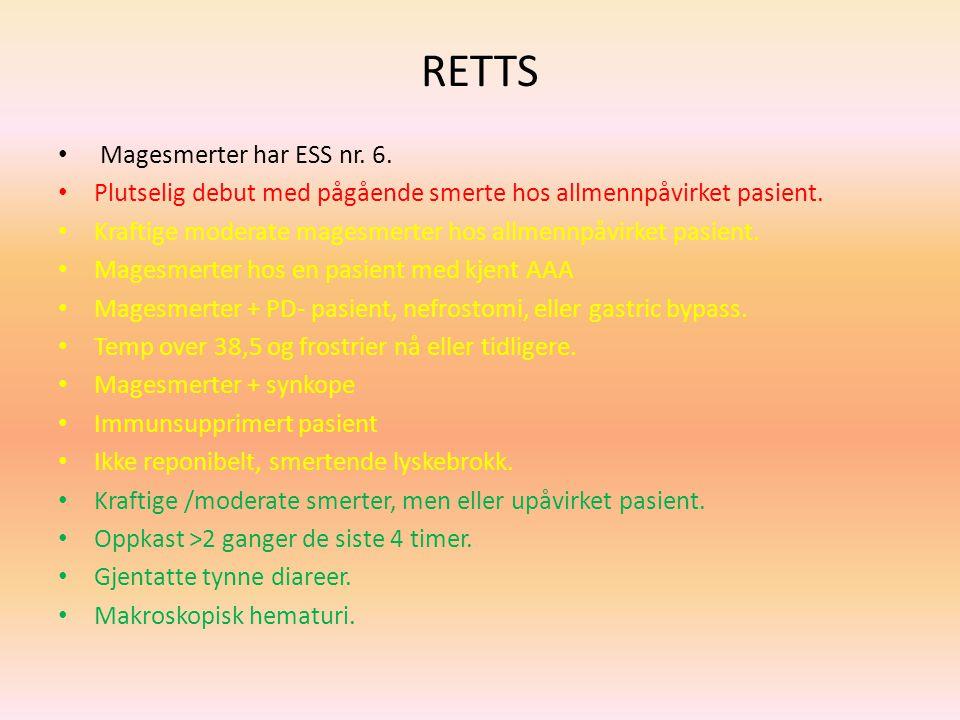 RETTS Magesmerter har ESS nr. 6.