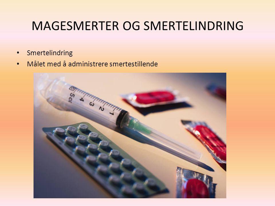 MAGESMERTER OG SMERTELINDRING