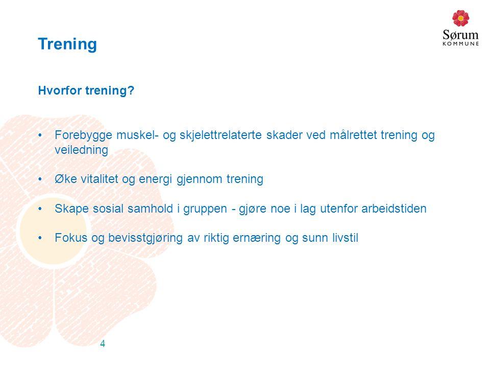 Trening Hvorfor trening