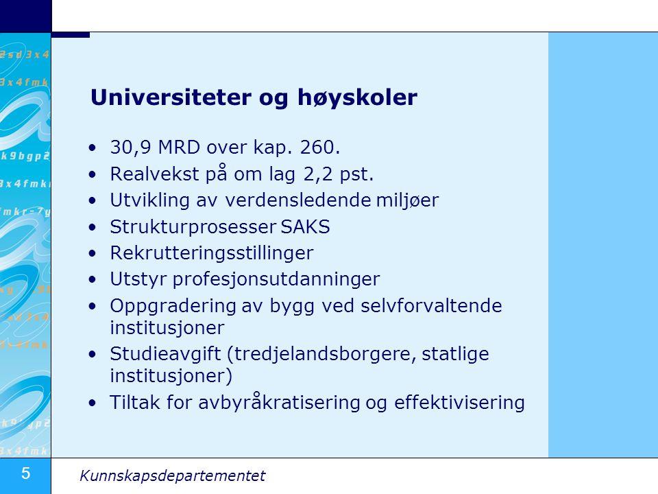Universiteter og høyskoler