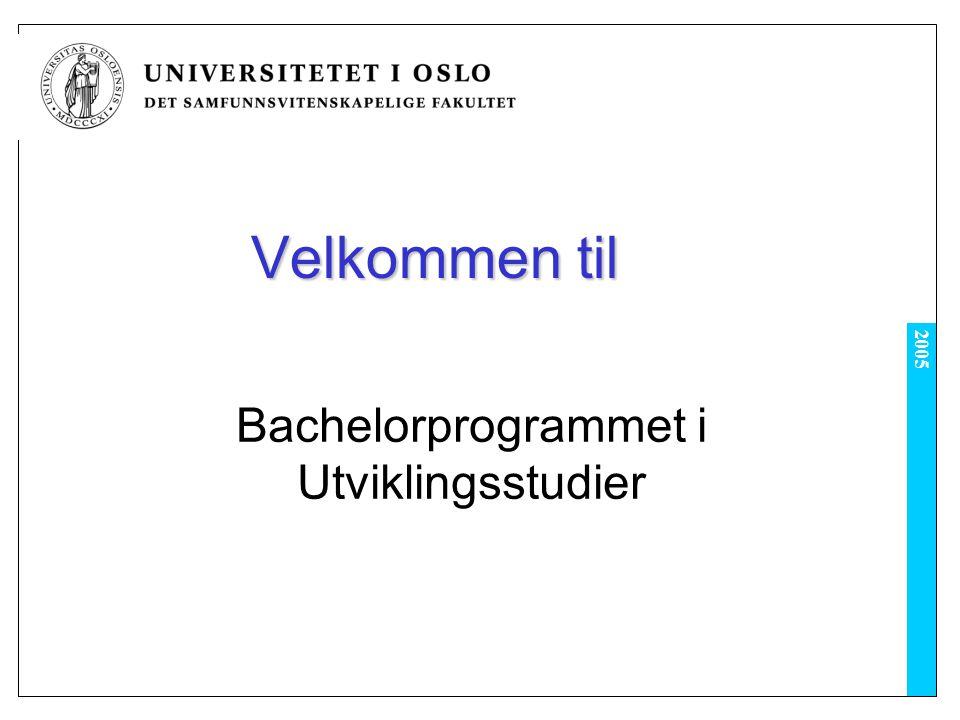 Bachelorprogrammet i Utviklingsstudier