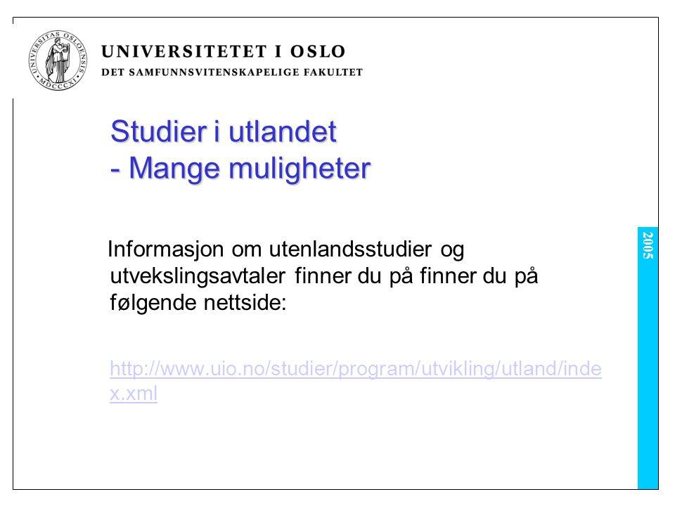Studier i utlandet - Mange muligheter
