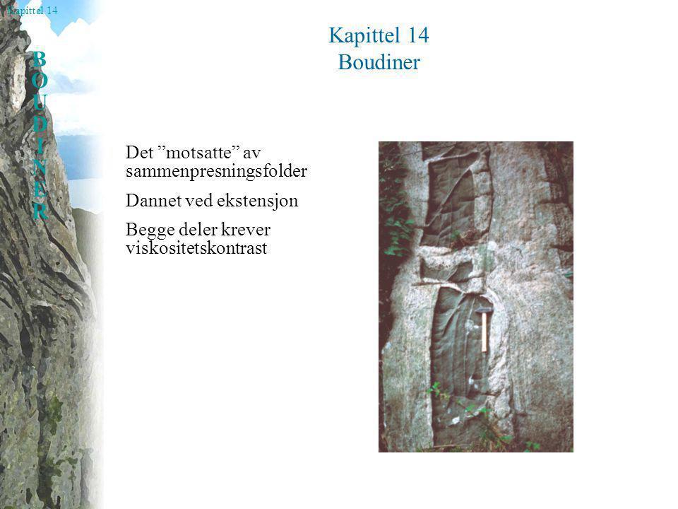 Kapittel 14 Boudiner Det motsatte av sammenpresningsfolder