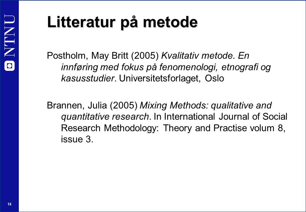 Litteratur på metode
