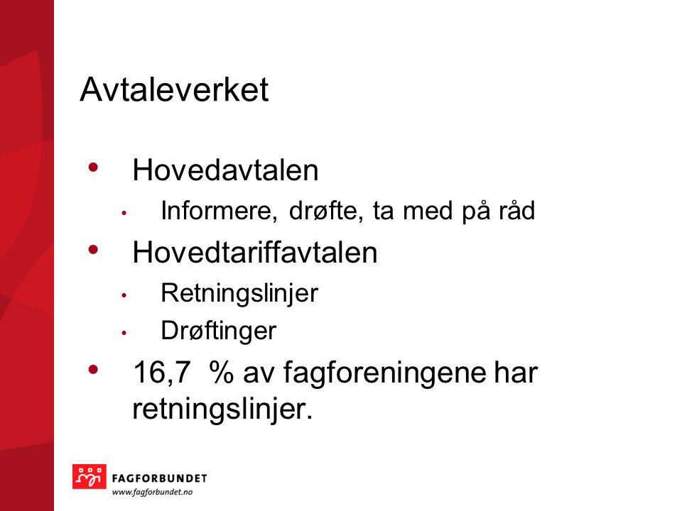 Avtaleverket Hovedavtalen Hovedtariffavtalen