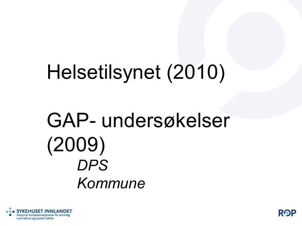 Helsetilsynet (2010) GAP- undersøkelser (2009) DPS Kommune