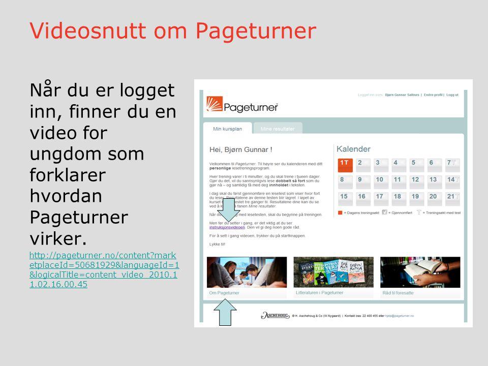 Videosnutt om Pageturner