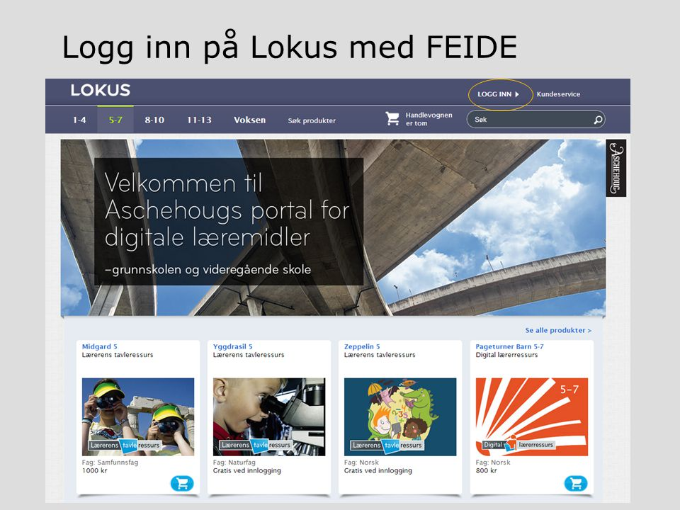 Logg inn på Lokus med FEIDE
