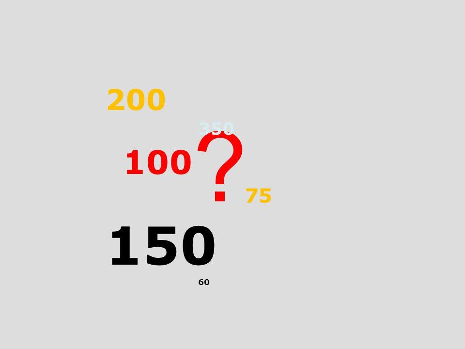 200 350 100 75 150 60