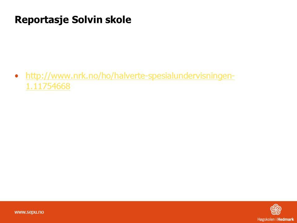 Reportasje Solvin skole