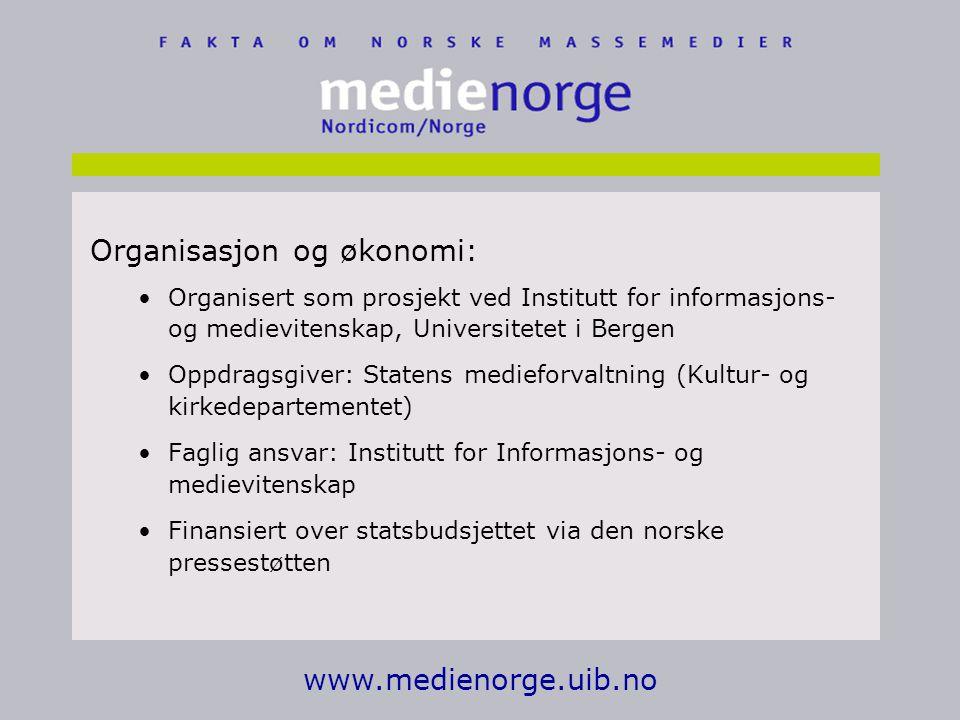 Organisasjon og økonomi: