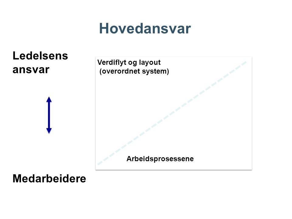Hovedansvar Ledelsens ansvar Medarbeidere Verdiflyt og layout