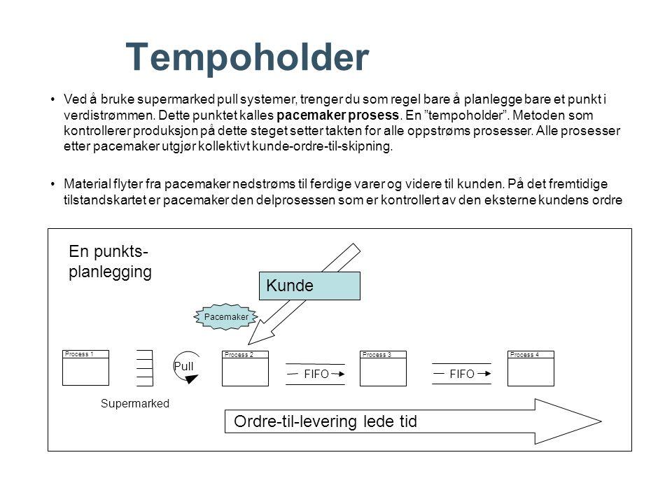 Tempoholder En punkts- planlegging Kunde Ordre-til-levering lede tid