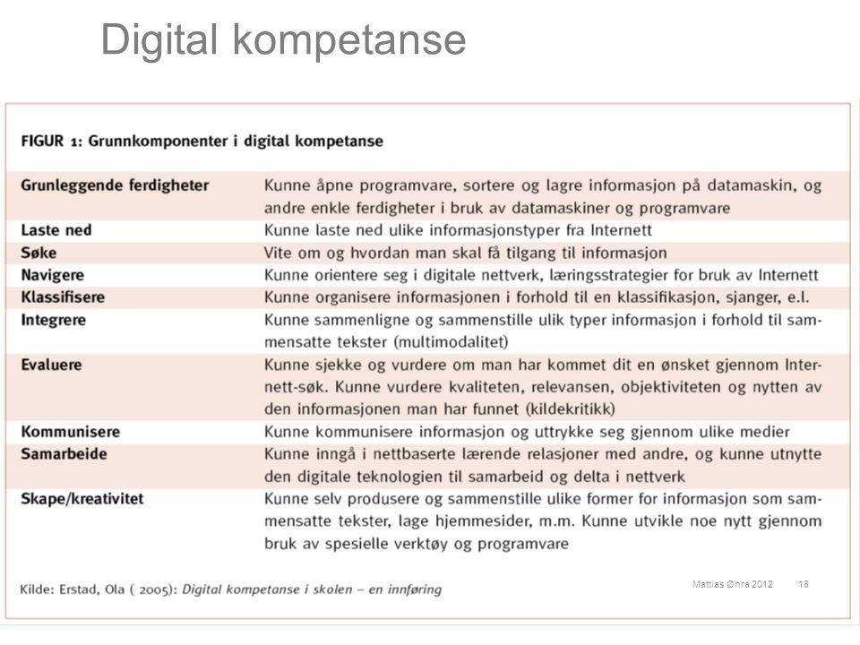 Digital kompetanse Mattias Øhra 2012