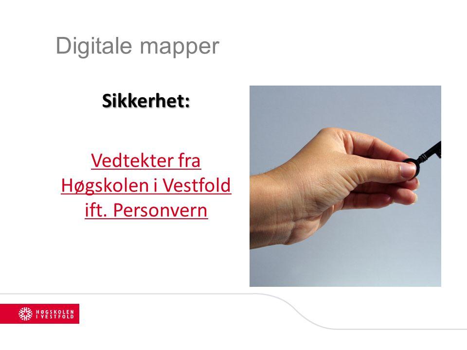Vedtekter fra Høgskolen i Vestfold ift. Personvern