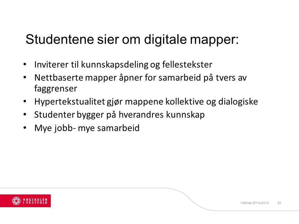Studentene sier om digitale mapper: