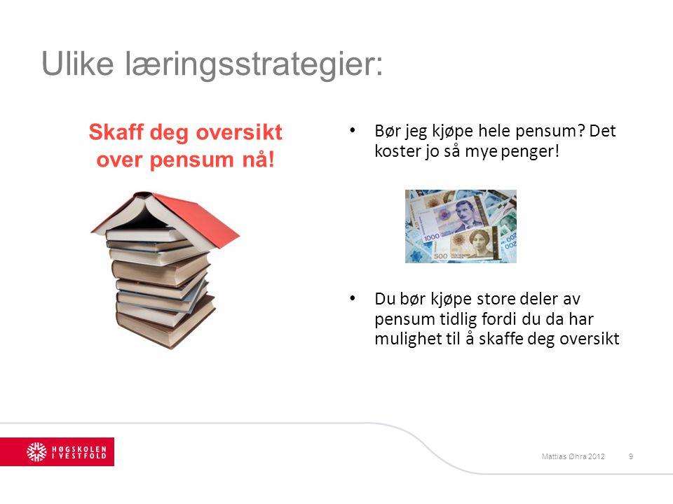 Ulike læringsstrategier: