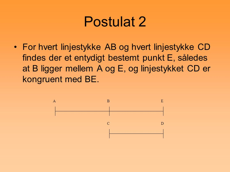 Postulat 2