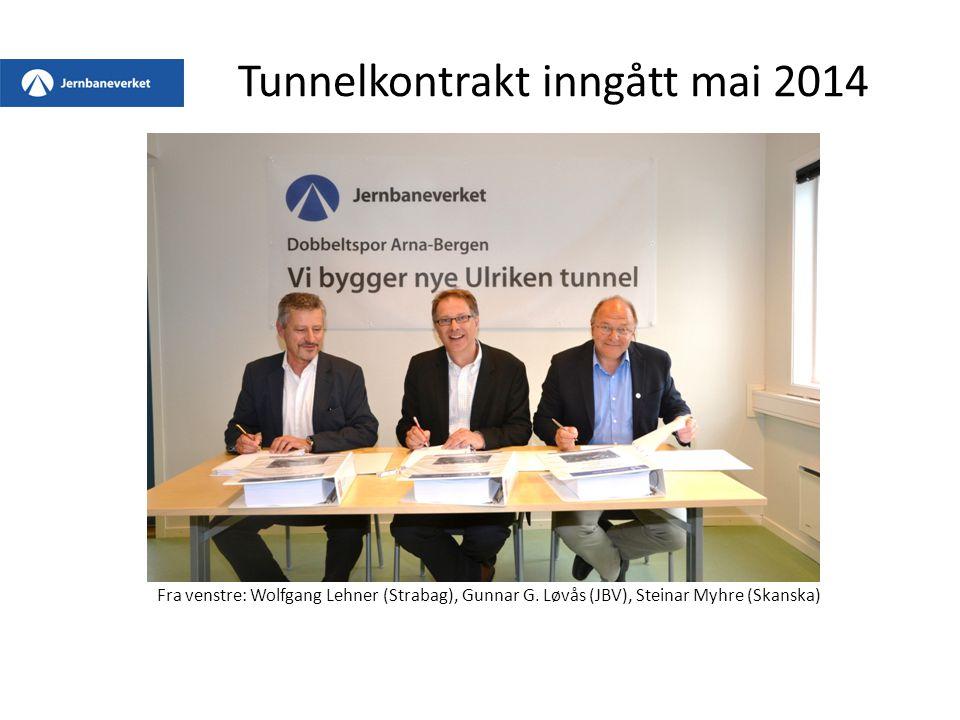 Tunnelkontrakt inngått mai 2014
