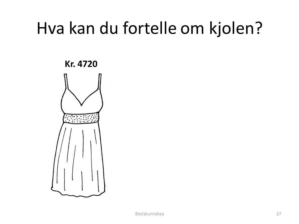Hva kan du fortelle om kjolen