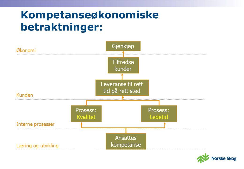 Kompetanseøkonomiske betraktninger: