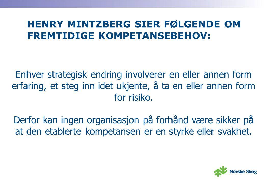 HENRY MINTZBERG SIER FØLGENDE OM FREMTIDIGE KOMPETANSEBEHOV: