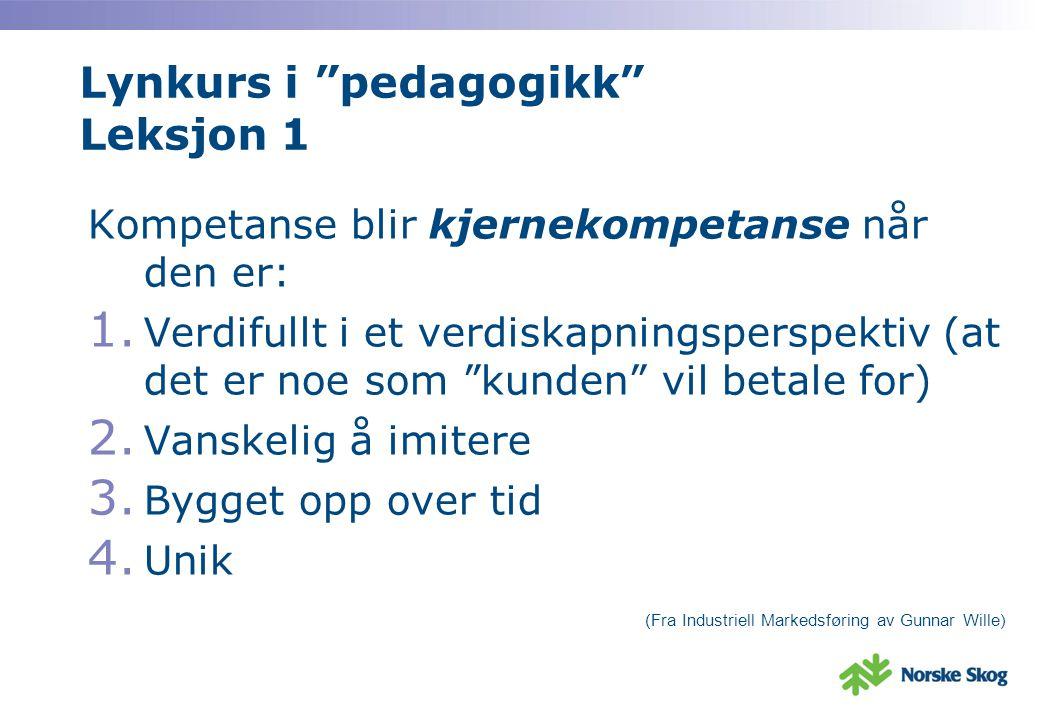 Lynkurs i pedagogikk Leksjon 1