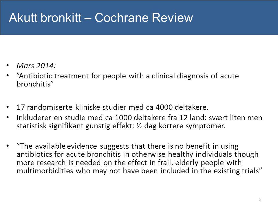 Akutt bronkitt – Cochrane Review