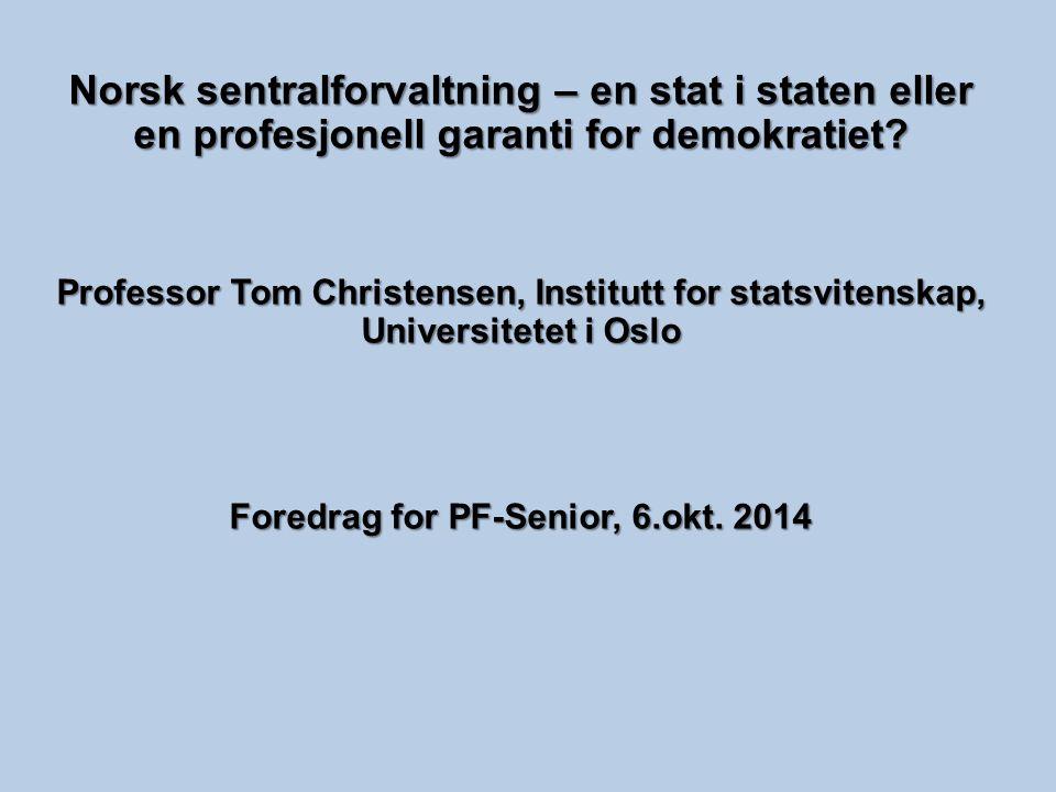 Foredrag for PF-Senior, 6.okt. 2014