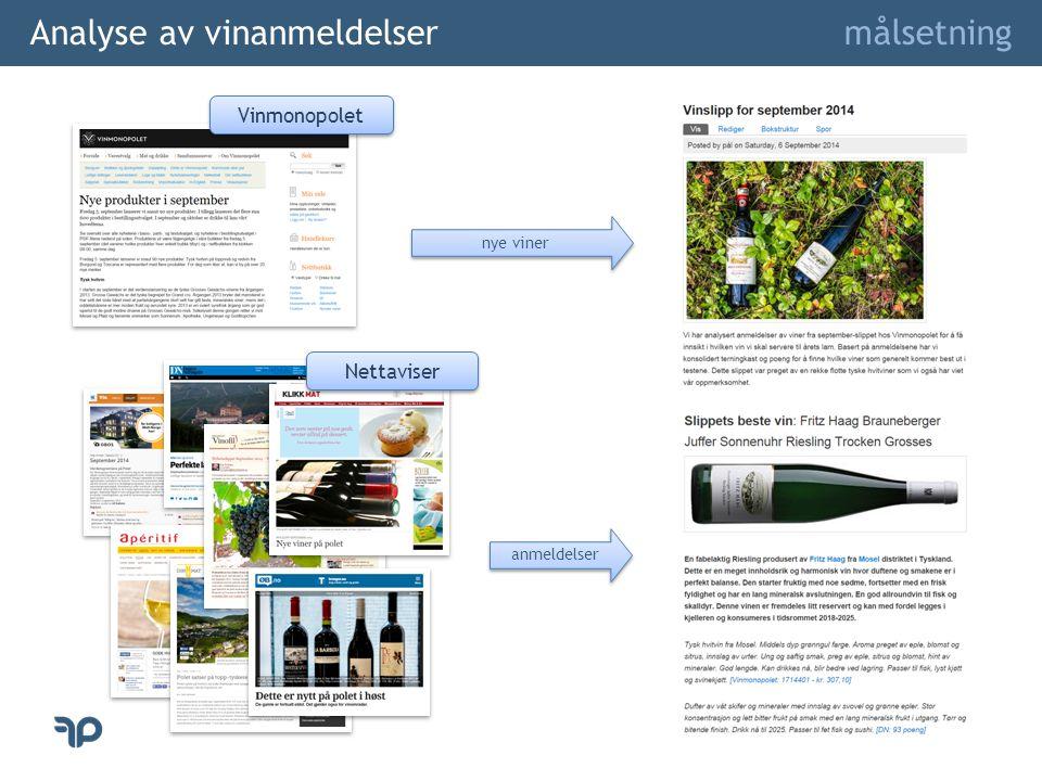 Analyse av vinanmeldelser