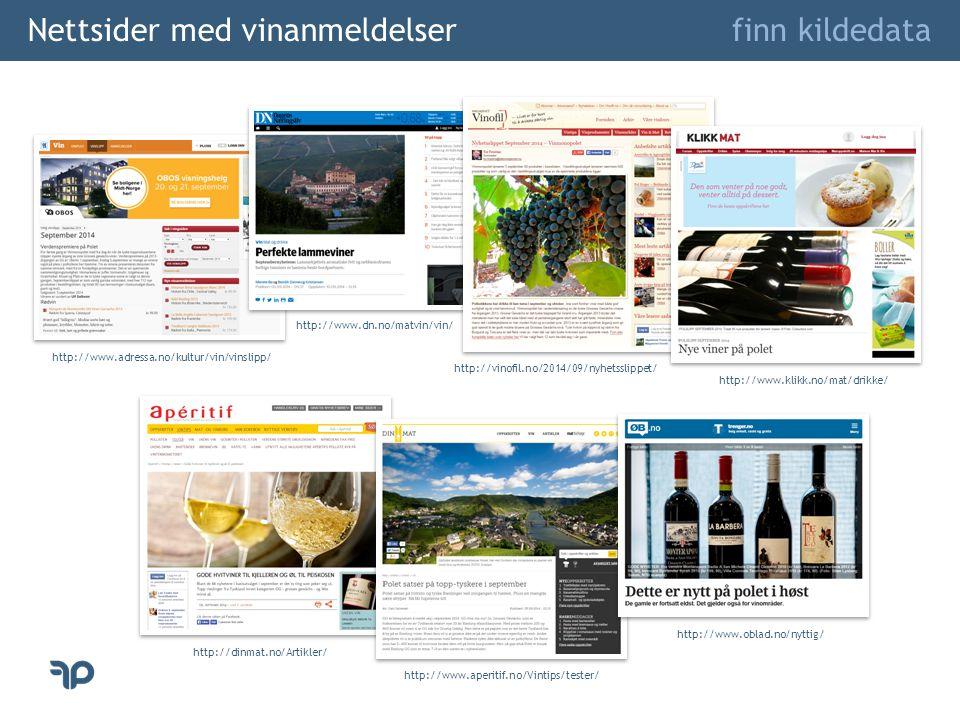 Nettsider med vinanmeldelser
