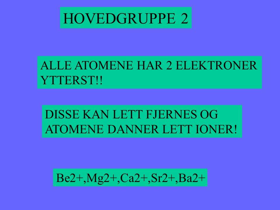 HOVEDGRUPPE 2 ALLE ATOMENE HAR 2 ELEKTRONER YTTERST!!