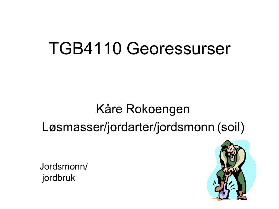 Kåre Rokoengen Løsmasser/jordarter/jordsmonn (soil)