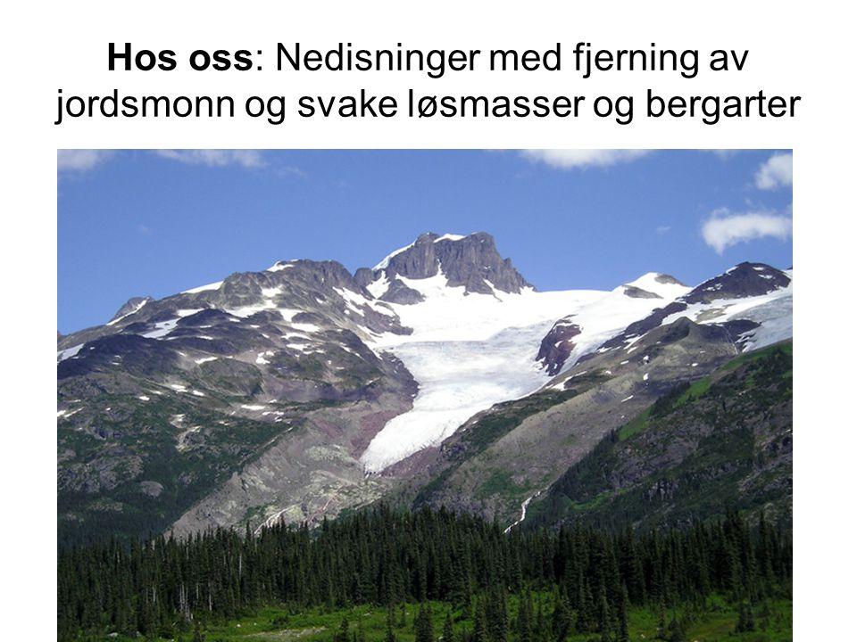 Hos oss: Nedisninger med fjerning av jordsmonn og svake løsmasser og bergarter