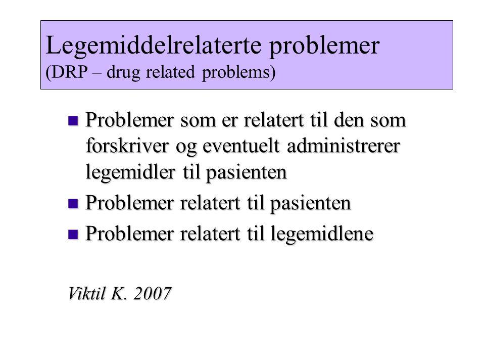 Legemiddelrelaterte problemer