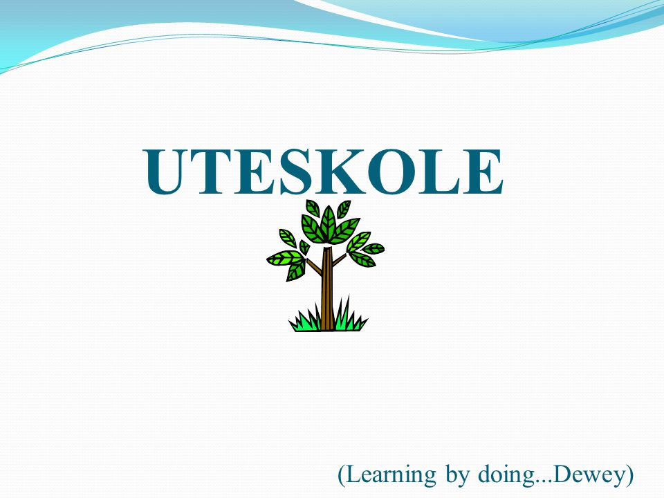 UTESKOLE (Learning by doing...Dewey)
