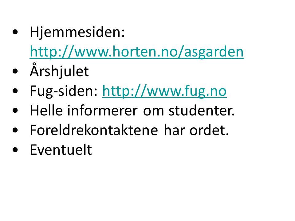 Hjemmesiden: http://www.horten.no/asgarden