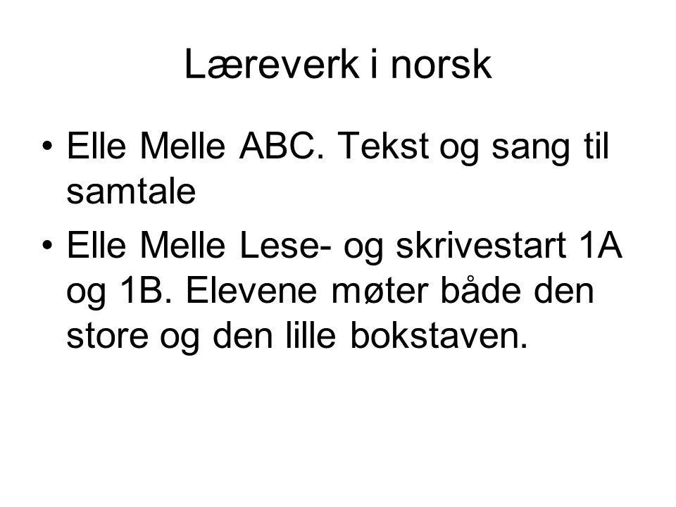 Læreverk i norsk Elle Melle ABC. Tekst og sang til samtale